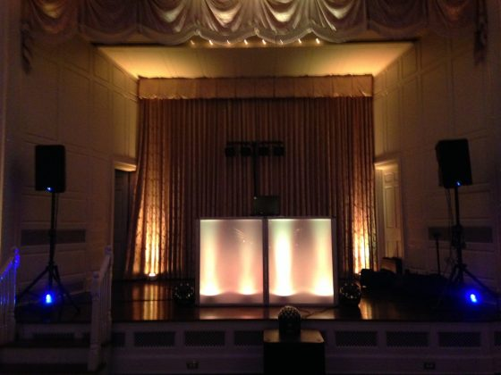 Uplighting for weddings & events - Dance to the Music Entertainment